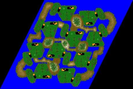 Settlers 3 Map: 10er_Junglecamp from LuckyStrike