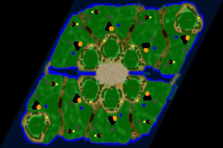 Settlers 3 Map: 768_8_Flowerpower from CC Dej