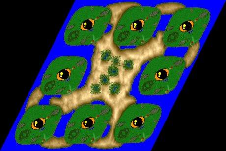 Settlers 3 Map: 8er_Magic_Eyes from mavmav