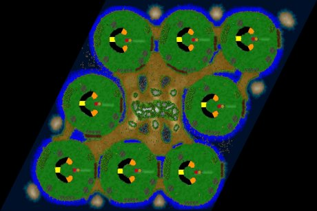 Settlers 3 Map: 8_bubbels_NF from LuckyStrike