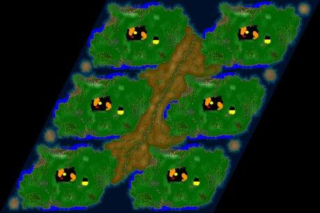 Settlers 3 Map: Orakel-6-Goldberg from LuckyStrike