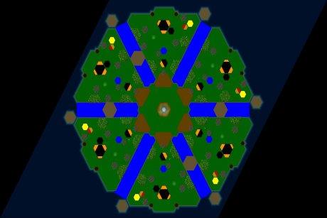 Settlers 3 Map: six_funboard_Flat from LuckyStrike