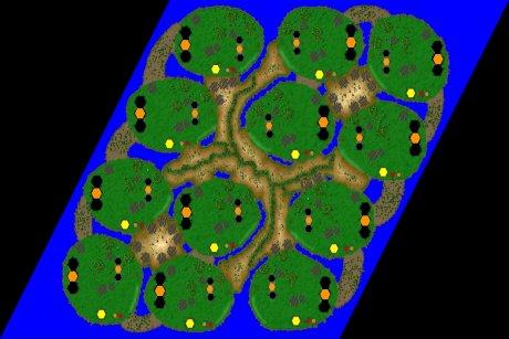 Settlers 3 Map: Sturm_der_Hiebe_12er from LuckyStrike