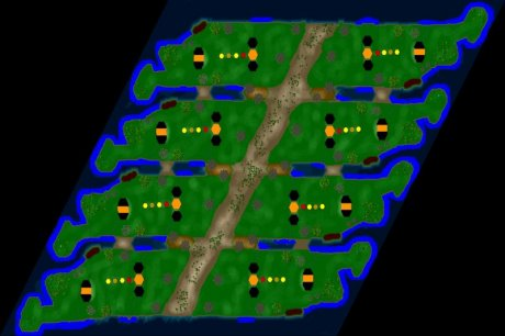 Settlers 3 Map: Xtreme-8 from CC Dej