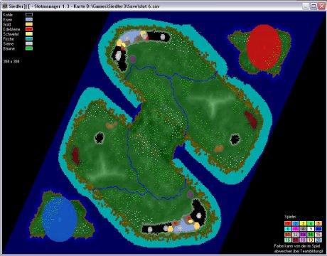 Settlers 3 Map: 384-2-Enger Steg from admin