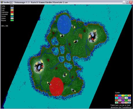 Settlers 3 Map: 384-2-Lakes from admin