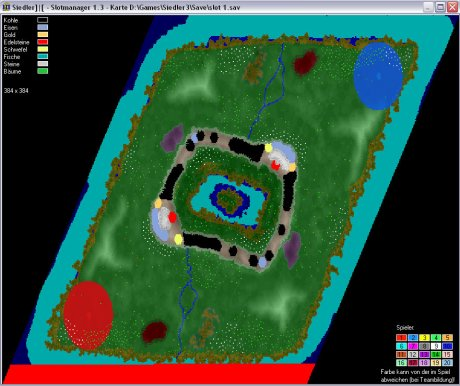 Settlers 3 Map: 384-2-Vulkanauge from admin