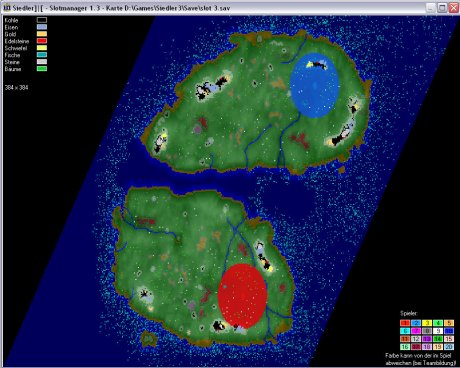 Settlers 3 Map: 448-2-island_3 from admin