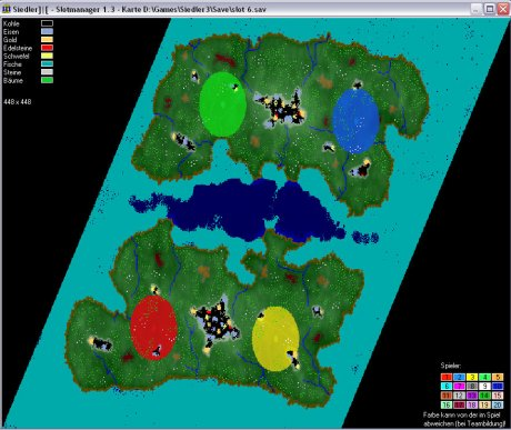 Settlers 3 Map: 448-4-island_2 from admin