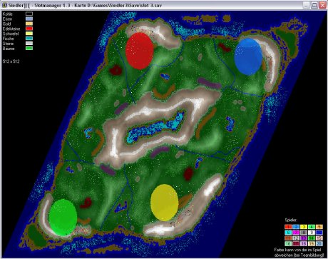 Settlers 3 Map: 512-4-Mountain_Lake from admin