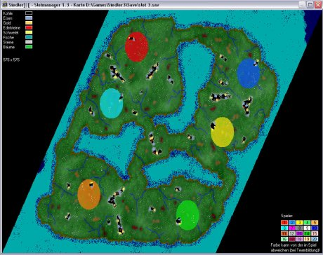Settlers 3 Map: 576-6-Recon from admin