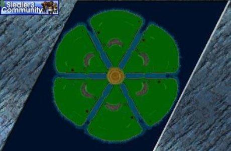 Settlers 3 Map: six-LA-shield from abahatchi