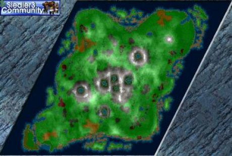 Settlers 3 Map: 7Volacanos-AmunRa from abahatchi