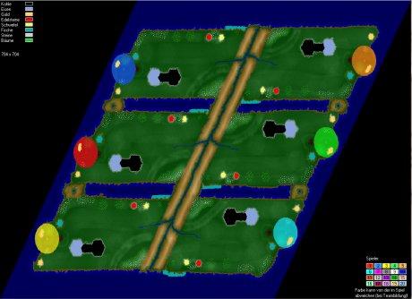 Settlers 3 Map: 6 hanteln neu from Elixyr