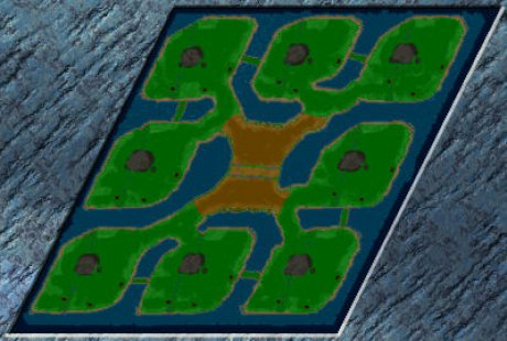 Settlers 3 Map: Stonewashed8-cross from Schloddabuex