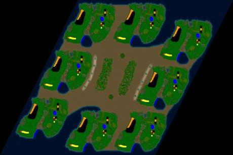 Siedler 3 Map: 8er-Honigkuchen von Zimtstein