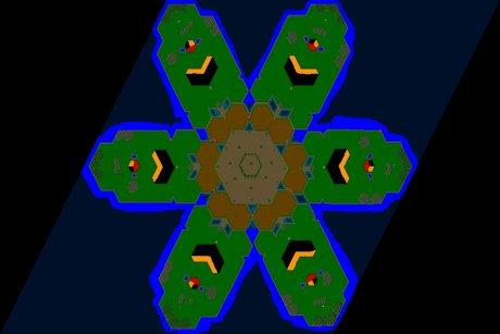 Settlers 3 Map: egypt_flower from redeyed