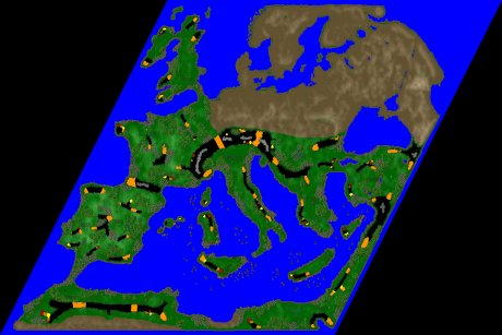 Settlers 3 Map: Europe.Middlesea from Ludi