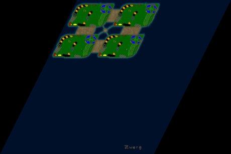Settlers 3 Map: 4er_Neuland from Zwerg