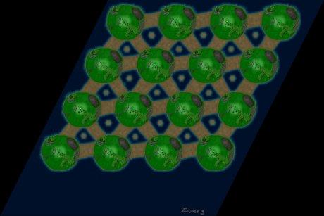 Settlers 3 Map: 16er_Mittwelt from Zwerg